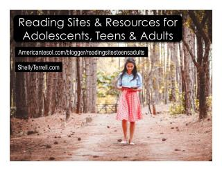 Reading Resources and Apps for Adolescents, Teens, & Adults