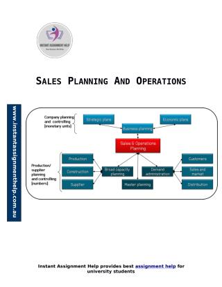 Sample for Sales Planning And Operations
