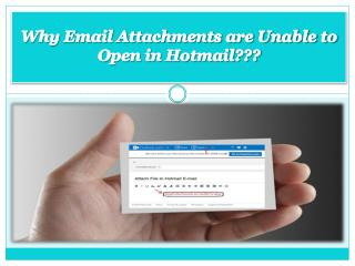 Email Attachments are Unable to Open in Hotmail