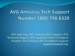 1800-798-8320  AVG Antivirus Technical Support Number