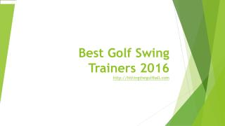 best golf swing trainers