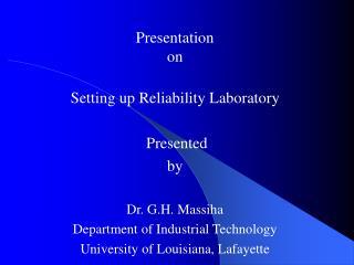 Reliability Laboratory