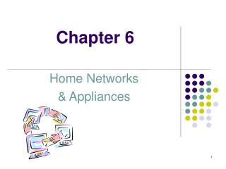 Home Networks   Appliances