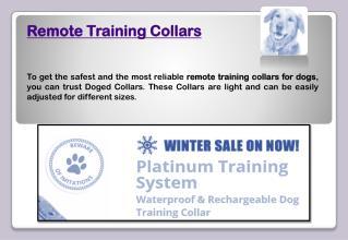 Remote training collars
