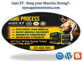 Gain XT: 100% Safe & Effective Body building Formula?