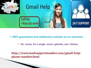 Gmail help @1-844-347-4009 Issue Can Be Dealt Easily.