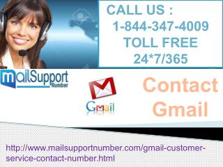 For Instant Solution, Contact Gmail @1-844-347-4009 for Gmail Support services!