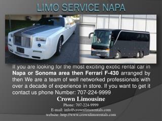 Limo Service Napa