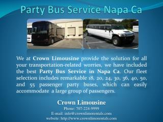 Party Bus Service Napa Ca
