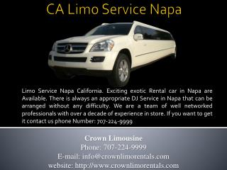 CA Limo Service Napa