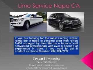 Limo Service Napa CA