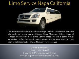 Limo Service Napa California