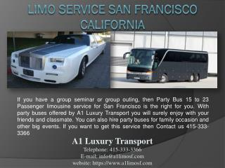 Limo Service San Francisco California