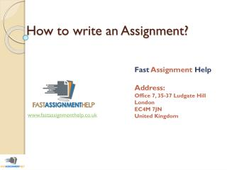 Definitive Guide - How to write an assignment