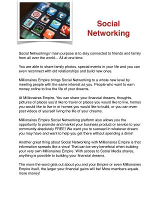 Social Networking-Millionaires Empire