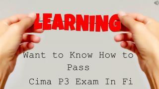 Cima E3 Exam Questions