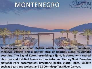 Looking for Montenegro Visitor visa - Contact Sanctum Consulting