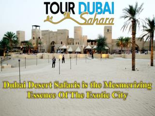 Dubai Desert Safaris is the Mesmerizing Essence Of The Exotic City