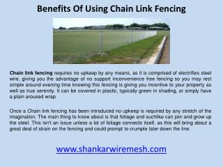 Benefits of using chain Link fencing
