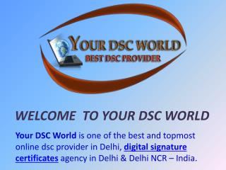 Best & Top Digital Signature Provider in India