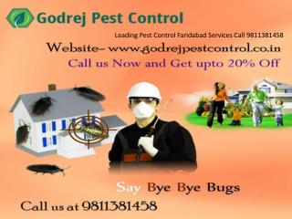 Leading Pest Control Faridabad Services Call 9811381458