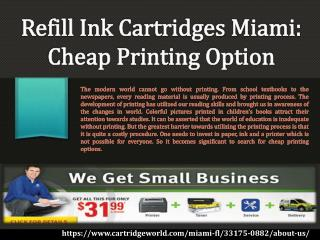 Refill Ink Cartridges Miami