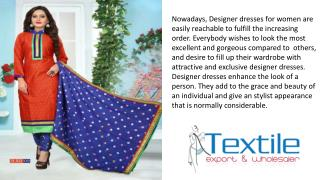 Textile Export is the Manufacturer and Wholesaler of Dress in Surat, India at Lowest Rent