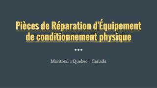 Qualité supérieure Pièces de Réparation d'Équipement de conditionnement physique en ligne à Montréal