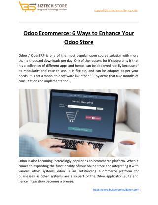 6 Ways to Enhance Your Odoo Store