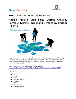 Allergic Rhinitis Drug  Market Analysis, Forecast, Growth Impact and Demand by Regions till 2021