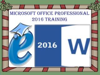 Microsoft Office Professional 2016 Training