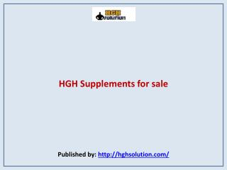 HGH Solution-HGH Supplements for sale