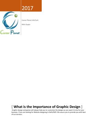 What is the Importance of Graphic Design