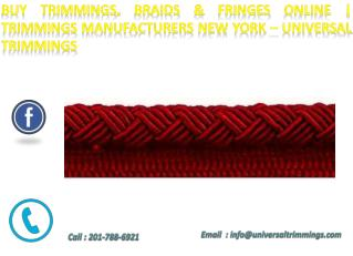 Metallic Braid Trim| Trim Stores