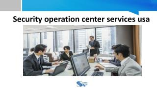 Security Operation Center Services USA - Suma Soft