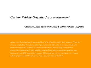 Custom Vehicle Graphics for Advertisement