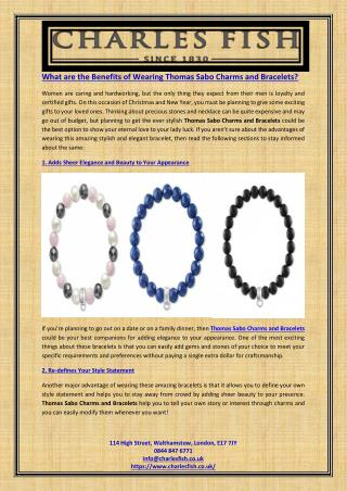What are the Benefits of Wearing Thomas Sabo Charms and Bracelets