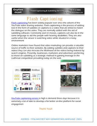 Flash Captioning