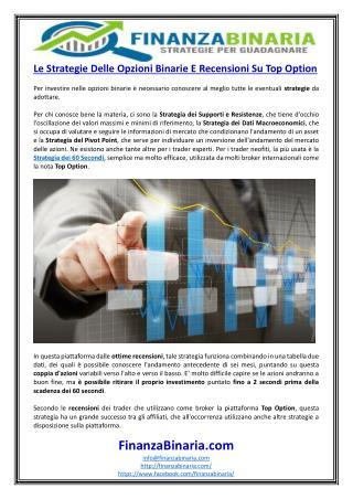 Le Strategie Delle Opzioni Binarie E Recensioni Su Top Option