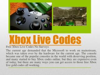 live xbox code generator