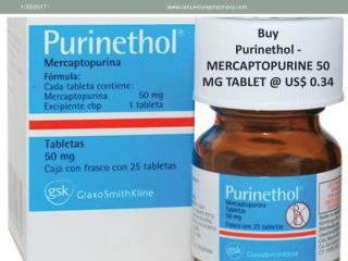 Buy Purinethol - Mercaptopurine 50 Mg Tablet @ Us$ 0.34