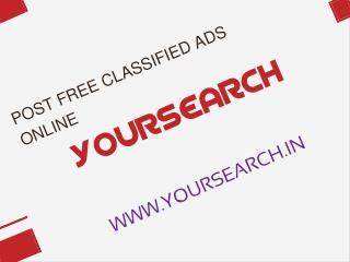 Post Free Classified Ads Online- YourSearch