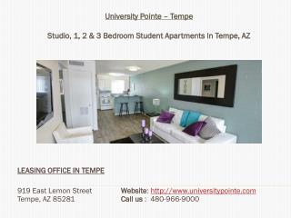 University Pointe - 1, 2 & 3 Bedroom Student Apartments in Tempe