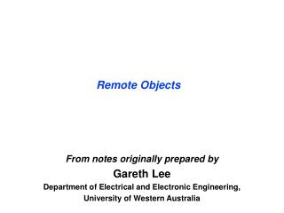 Remote Objects
