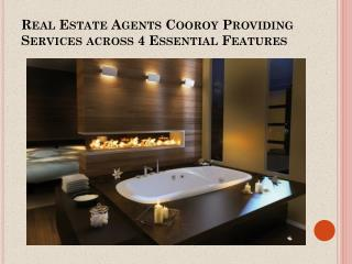 Real Estate Agents Cooroy Providing Services across 4 Essential Features