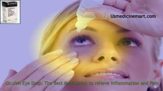 Treat Swelling,Pain,Redness after Eye Surgery by Ocufen Eye Drops