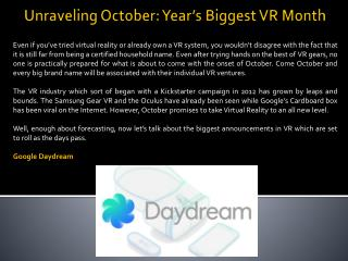 Unraveling October: Year's Biggest VR Month