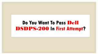 Dell DSDPS-200 Practice Test Questions Dumps