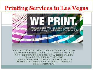 Las Vegas Professional Printing Services