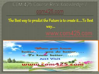 COM 425 Course Real Knowledge / com 425 dotcom